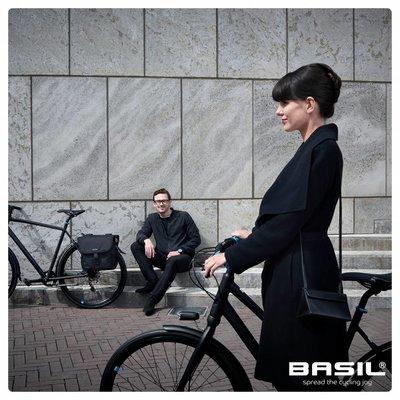 Basil GO Single Bag - shopper - bicycle shopper - 18L - blue