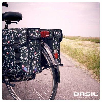Basil Wanderlust Double Bag - doppelte fahrradtasche - 35L - schwarz