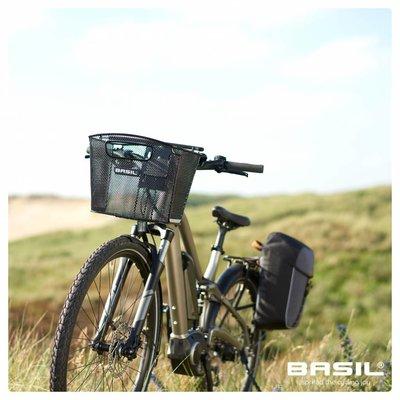 Basil Miles Daypack - Fahrradschultertasche - Fahrradrucksack - 17l - schwarz/grau