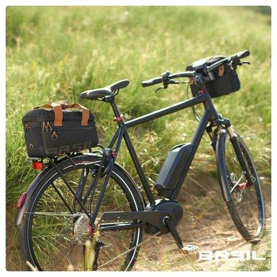 Basil Miles Top Case - bagagedragertas - schoudertas - 7L - zwart/grijs