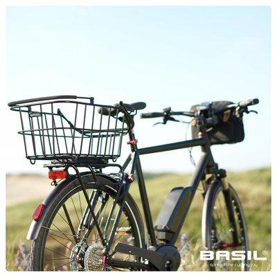 Basil Cento Alu Multi System - fietsmand - achterop - afneembaar - zwart