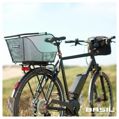 Basil Icon M Multi System - bicycle basket - rear - removable - black