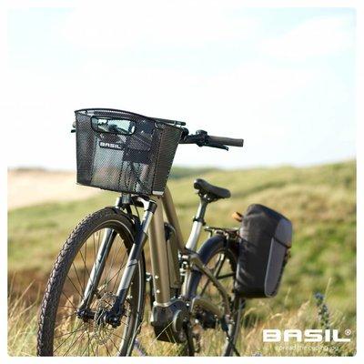 Basil Bold Front Removable - fietsmand - 16L - voorop - zwart