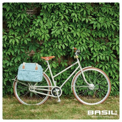 Basil Boheme Carry All - single bike bag - bicycle shoulder bag - 18L - green