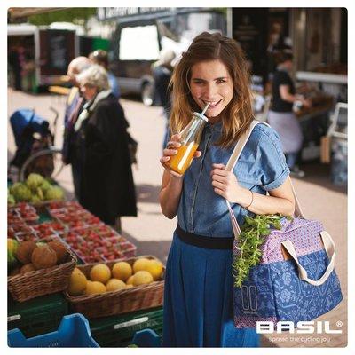 Basil Boheme Carry All - einfache fahrradtasche - fahrradschultertasche - 18L - blau