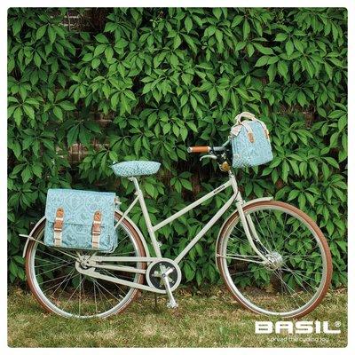 Basil Boheme Double Bag - dubbele fietstas - 35L - groen