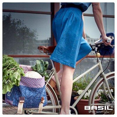 Basil Boheme Double Bag - dubbele fietstas - 35L - blauw