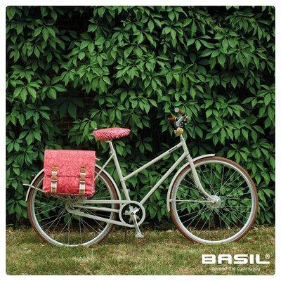 Basil Boheme Double Bag - dubbele fietstas - 35L - rood