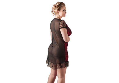 Zwart/Rood jurkje transparant