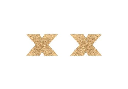 Flash Cross Tepelstickers - Goud