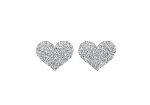 Flash Heart Tepelstickers - Zilver