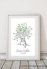 """wedding tree Fingerabdruckbaum """"Baum mit Herz"""""""