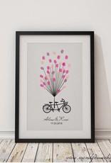 """wedding tree Fingerabdruckbaum """"Fahrrad"""""""
