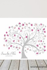 wedding tree auf Leinwand inkl. Stempelkissen