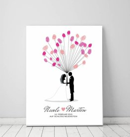 "wedding tree ""Brautpaar"" Leinwand"