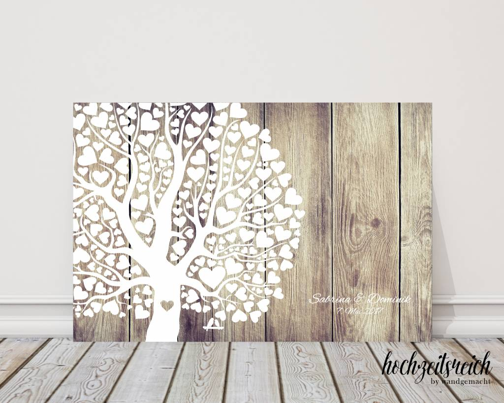 g stebuch leinwand herzblattbaum hochzeitsreich by christina g bel. Black Bedroom Furniture Sets. Home Design Ideas