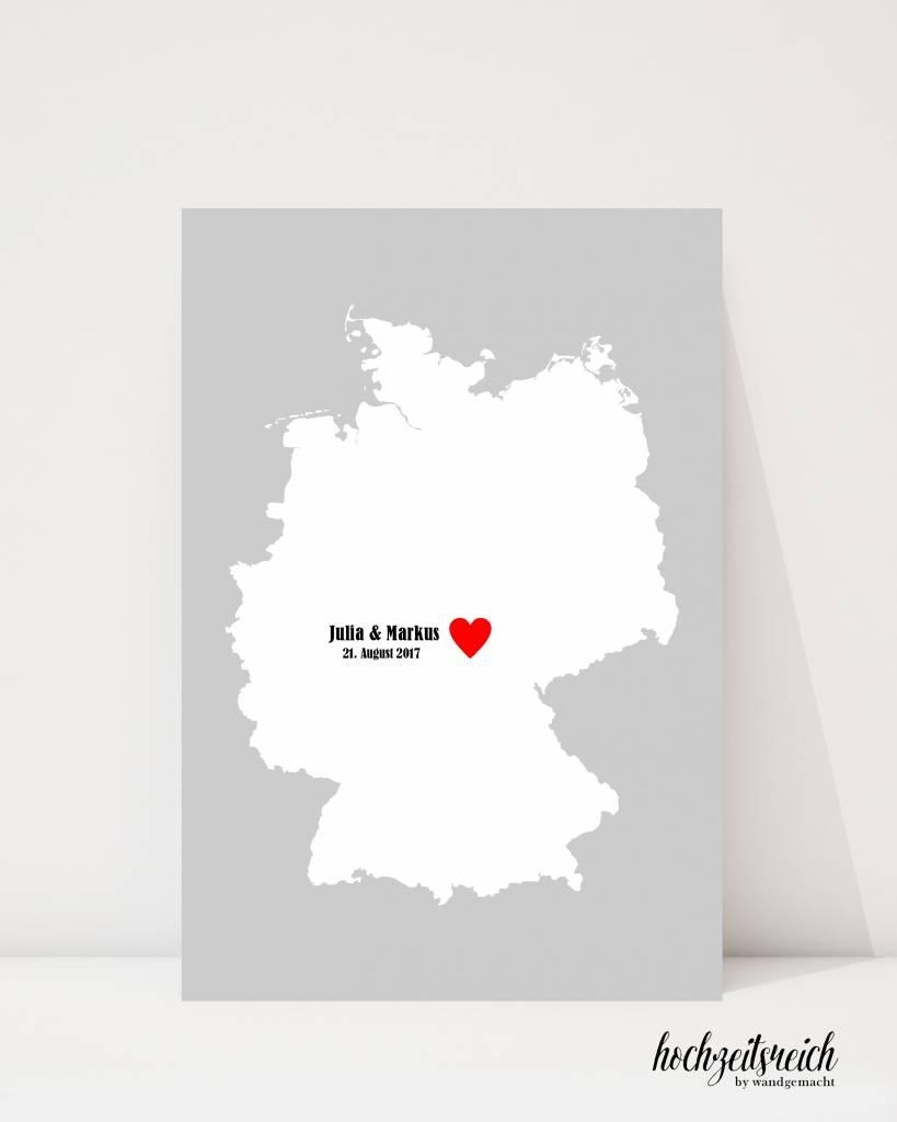"""wedding tree """"Deutschlandkarte"""" Leinwand"""