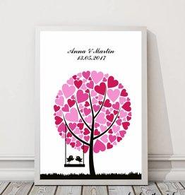 """wedding tree """"Baum mit Herzblättern"""""""