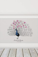 "wedding tree Fingerabdruckbaum ""Pfau"""