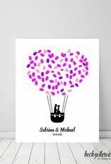 """wedding tree """"Ballonpaar"""" Leinwand"""