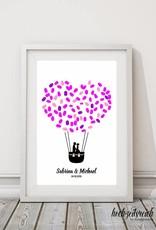 """wedding tree Fingerabdruckbaum """"Ballonpaar"""""""