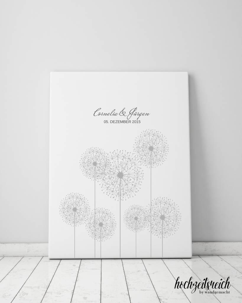 "wedding tree ""Pusteblumenwiese"" Leinwand"