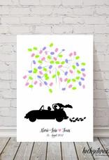 "wedding tree ""Auto"" Leinwand"