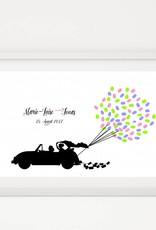 """Premium-Set """"Autoballons"""" inkl. Bilderrahmen"""