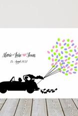 """wedding tree """"Autoballons"""" Leinwand"""