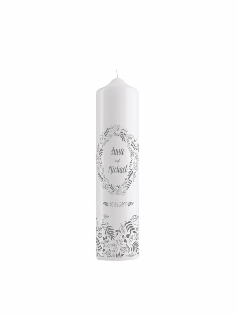 Kerze Blütenkranz 25x8