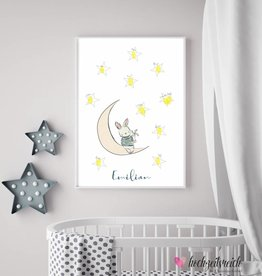 Baby Shower Fingerprint-Set Hasenmond