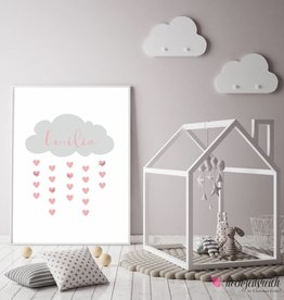 Baby Shower Fingerprint-Set Wolke