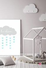 Baby Shower Fingerprint-Set Wolke