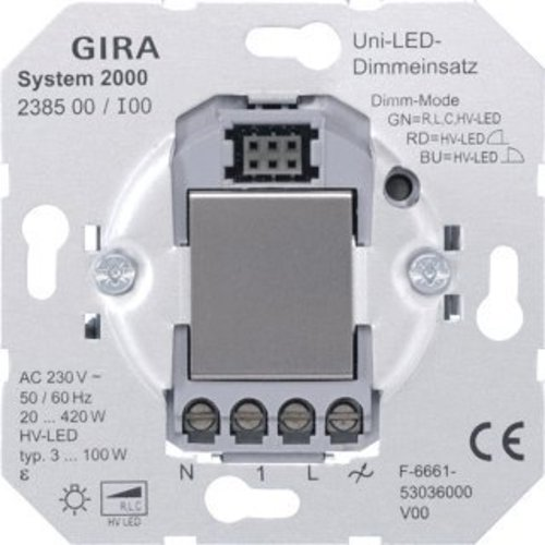 GIRA tastdimmer LED 3-100 Watt (238500)
