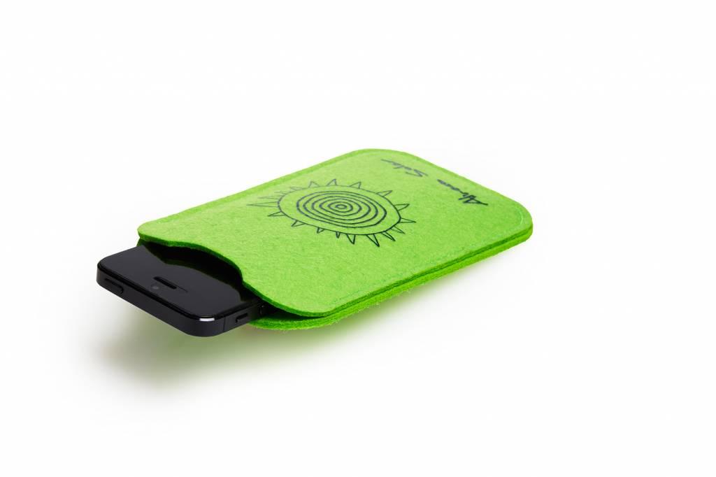 """phone case """"cuando volveràs"""" green"""