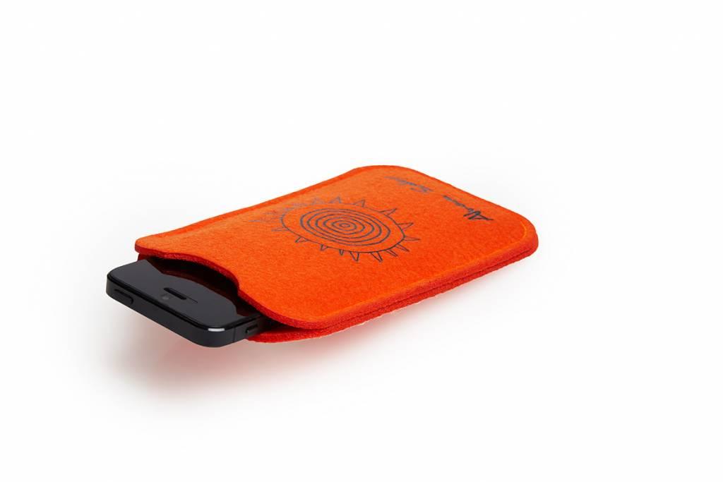 """Phone Case """"cuando volveràs"""" orange"""