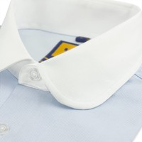 BLUE CLUB COLLAR SHIRT