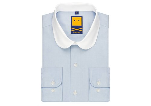 Trashness BLUE CLUB COLLAR SHIRT