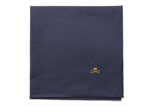 Trashness POCKET SQUARE NAVY