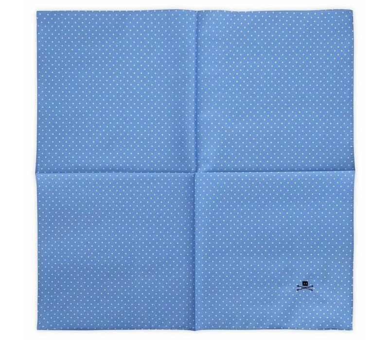 POCKET SQUARE POLKA BLUE
