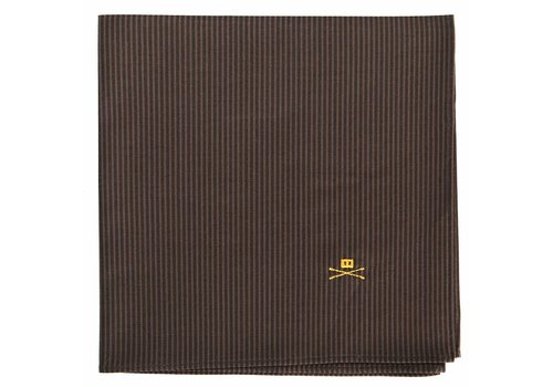 Trashness POCKET SQUARE STRIPED BROWN