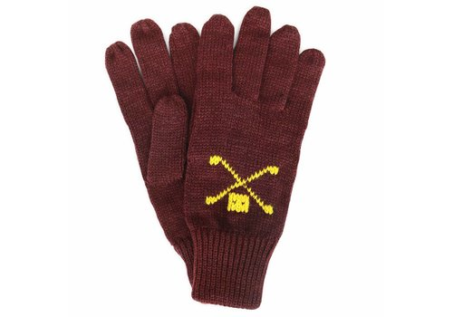 Trashness WOOL GLOVES BURGUNDY