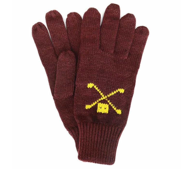 WOOL GLOVES BURGUNDY