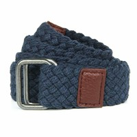 BRAIDED BELT NAVY
