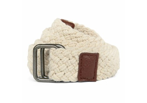 BRAIDED BELT OFF-WHITE