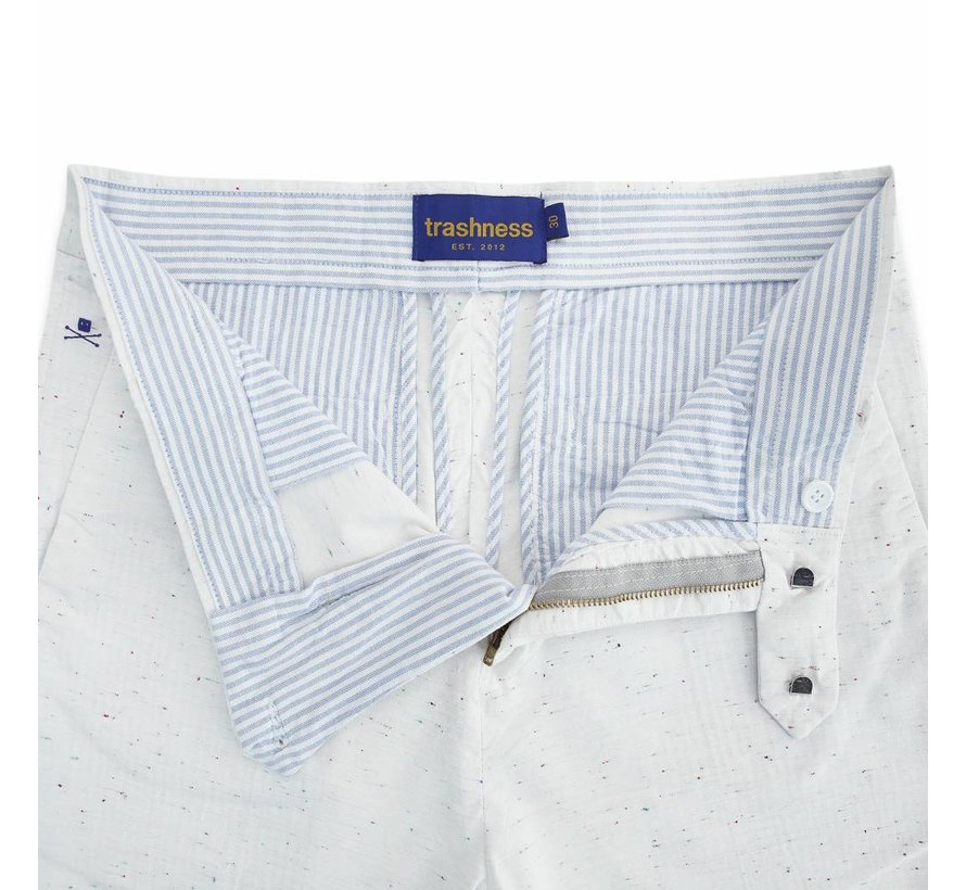 SLIM TROUSERS SPECKLED