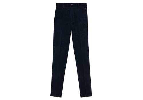 SLIM TROUSERS CORDUROY NAVY