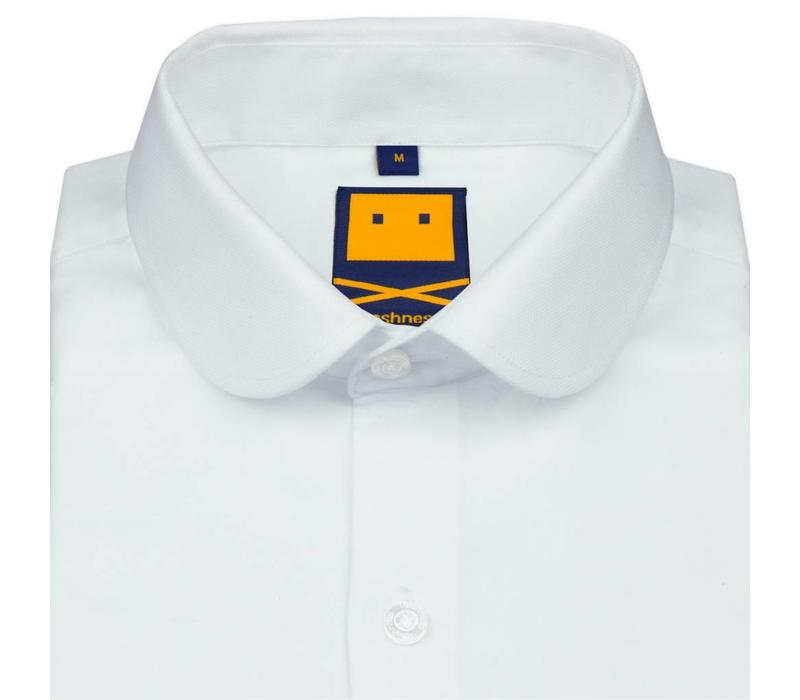 CLUB COLLAR WHITE SHIRT