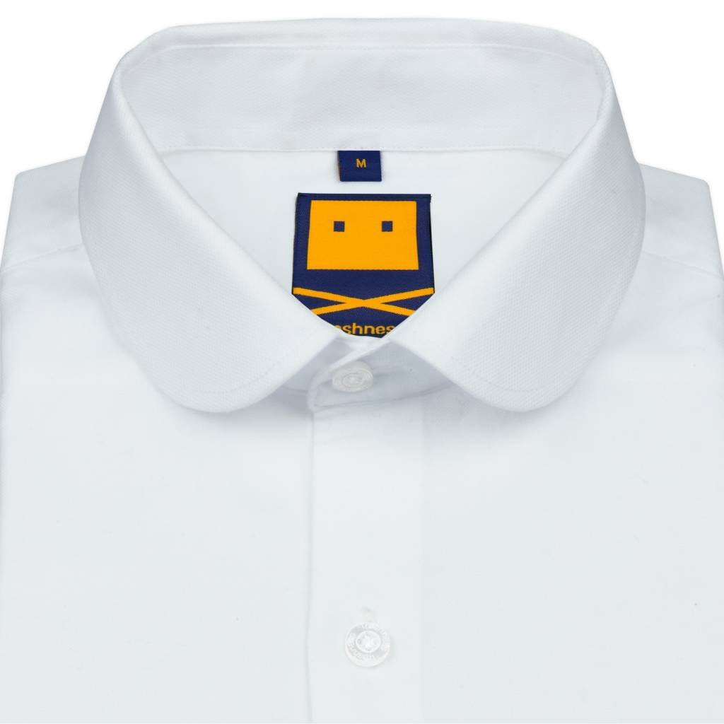 Trashness Club Collar White Shirt Trashness