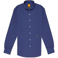 SPREAD COLLAR SQUARED SHIRT